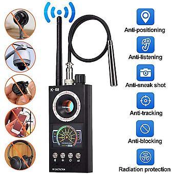 Détecteur Anti-Espion Sans fil RF Scanner RF Signal Détecteur Spy Camera Finder Bug Detector WiFi Signal GPS Radio Phone Device Finder Private Protect Security (Noir)