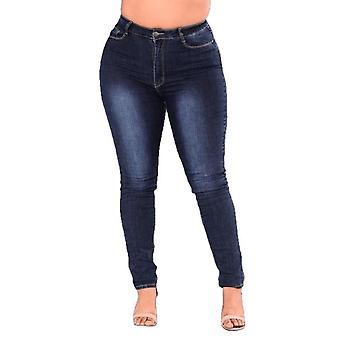 Estirar Denim Skinny Pants Pantalones de cintura alta Pantalones Vaqueros