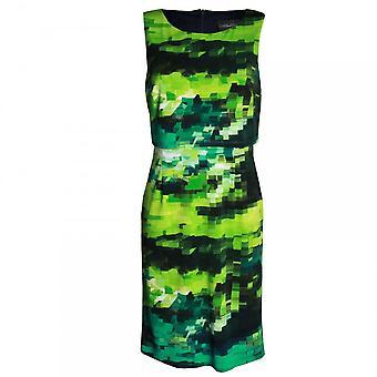 Frank Lyman Sleeveless Block Pattern Shift Dress