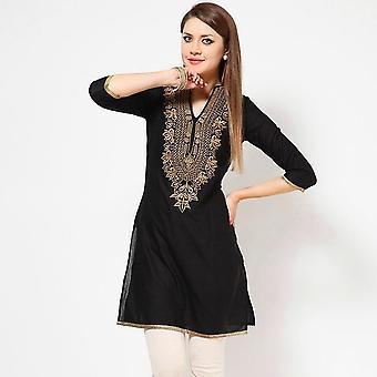 Intialainen mekko, etniset puserot kirjonta vaatteet W