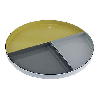 Set Of 4 Abstract Metal Trinket Trays