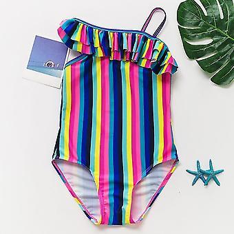 new st188 strips 9-10years summer bikini lovely child beachwear backless kids girls bathing suits sm6311