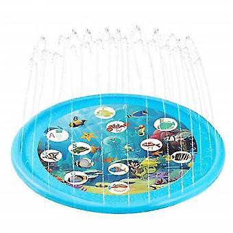 3-en-1 Splash Pad, 67in rociadores inflables para niños y piscina para niños pequeños para el aprendizaje (borde redondo
