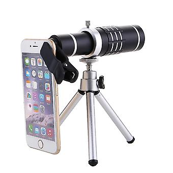 18X HD Zoom Monocular Waterproof Camping Metal Telescope Night Vision With Phone Holder