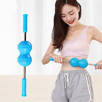 1PC Silica Gel Handheld Double Ball Massager Back Roller Push Back Massager |Foot Care Tool