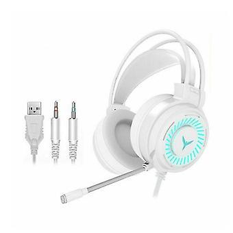 Gaming Headset RGB LED bedrade hoofdtelefoon stereo met microfoon voor een / PS4 PC Xbox