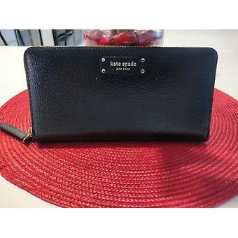 Kate Spade Jeanne Large Continental Wallet Black Leather WLRU5586