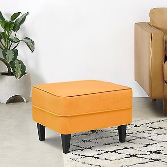 Bedroom Large Soft Frosted Velvet Footstool