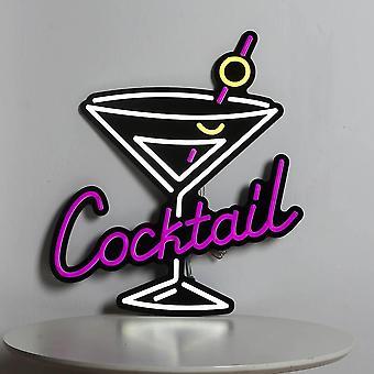 Lasillinen cocktail neonlogon led joustava neonnauhamerkki =