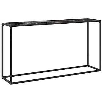 vidaXL console table black 140x35x75 cm tempered glass