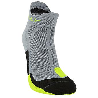 Hilly Cushion Socklets - Grey/Fluo Yellow/Black