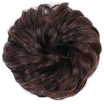 3 Kpl Muoti Synteettiset Teko hiukset Pulla Chignons aikuisille Naisille Elastinen Scrunchies Hiukset Pala Pulla