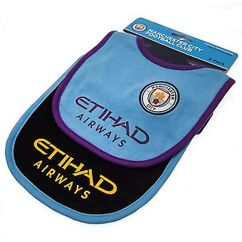 Manchester City FC Baby Unisex Bibs (Pack Of 2)