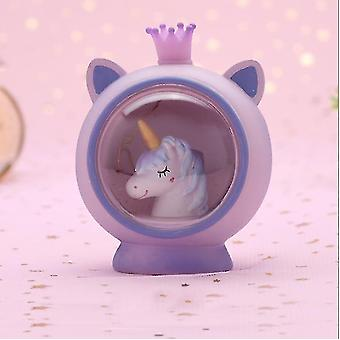 Tyttömäisen sydämen luova lahja Yksisarvinen Prinsessa Yö Valotähti Kevyt Syntymäpäivä Lahja (9.5 * 7.5 * 11CM)