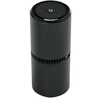 HOMCOM Portable Car Air Purifier, Low Noise Air Cleaner with 2 USB Port for Dust, Pollen, Smoke, Odor, Black