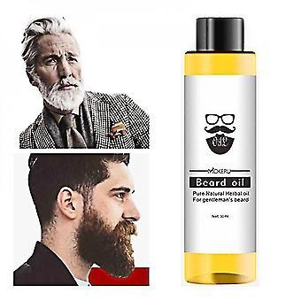 Muzxr-hiusten muotoilutuotteet 30ml luonnollinen orgaaninen partaöljy tasoittaa ravitsemus viikset parta kasvojen hiukset kasvavat eteerinen öljy miesten parranhoitotuotteet