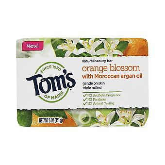 Tom's of maine natural bar soap, orange blossom with moroccan argan oil, 5 oz