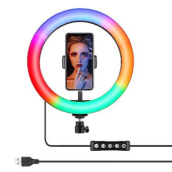 LED Ring Light 10 Couleurs RGB 8''/10''/12''/13'' With Tripod Stand Phone Holder
