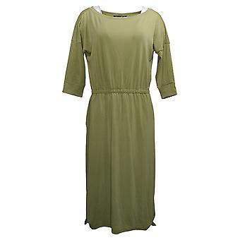 Brittany Humble Women's Dress Petite B.E. Ready Midi Green 753827
