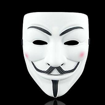 (Fehér sűrítés) Anonymous Hacker V Vendetta Guy Fawkes Fancy Face Mask Cosplay kellékek jelmezek