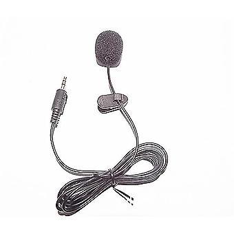 Mini tragbares Mikrofon Griff 1,5 m Kondensator Clip-on Ansteck aufnahme Stereo verkabelt für Telefon Laptop