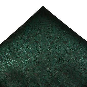 Cravates Planète Bouteille Vert Paisley Motif Pocket Carré Mouchoir
