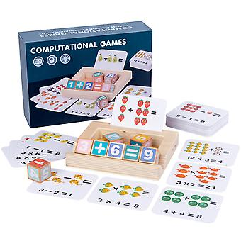 Wooden Blocks Spelling Game,  Color Matching Flash Cards