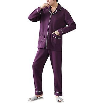 Silktaa men's Lightweight Button Pijamale Set pijamale lungi din bumbac