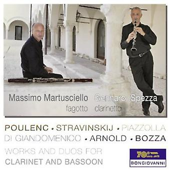 Poulenc/Bozza/Stravinskij/Giandomenico/Arnold/Piaz - Works and Duos for Clarinet and Bassoon [CD] USA import