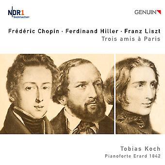 Chopin/Hiller/Liszt - Chopin, Hiller, Liszt: Trois Amis   Paris [CD] USA import