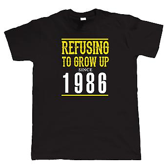 Nekter å bli opp siden 1986 Mens Funny T skjorte
