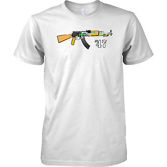 AK-47 Kalashnikov Assault Rifle-Diagramm-Design - Kinder T Shirt