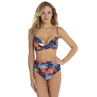 Seaspray Frida Navy Blue Control Floral Wired Molded Bikini 10-1163
