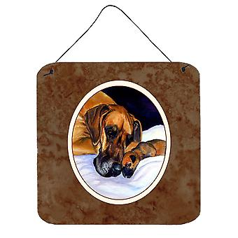 Natural Eared Fawn Great Dane Momma and Puppy Wall or Door Hanging Prints