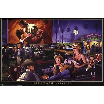 Drive-in Hollywood-George Bungarda Poster Poster Print