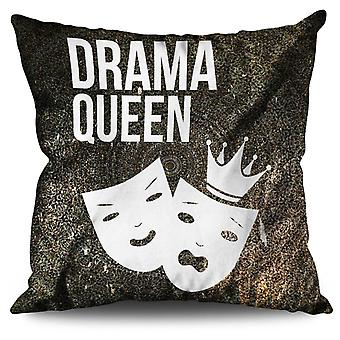 Drama Queen Cool Funny Linen Cushion 30cm x 30cm | Wellcoda