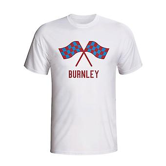 Burnley Waving flagg T-shirt (hvit)