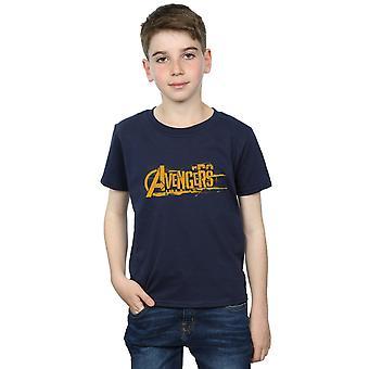 Marvel Boys Avengers Infinity War Orange Logo T-Shirt