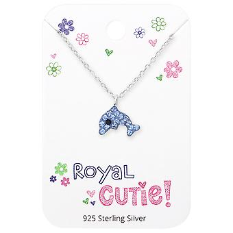 Dolphin Necklace On Royal Cutie Card - 925 Sterling Silver Sets - W35924X