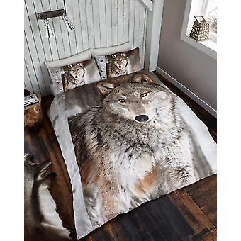 3D dyr Wolf Premium dynetrekk sengetøy sett enkelt Double King