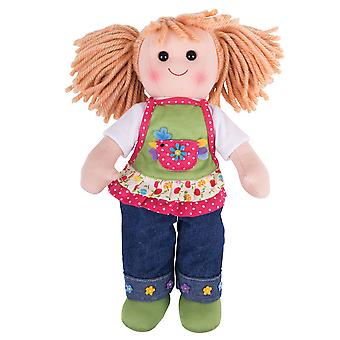 Bigjigs Toys Soft Plush Sophia (34cm) Ragdoll Cuddly Toy