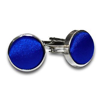 Royal Blue platte satijnen Manchetknopen