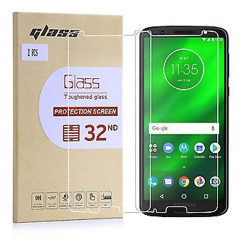 Verre trempé extra blindé pour Motorola Moto G6 Plus (5,93) - Pack de 2