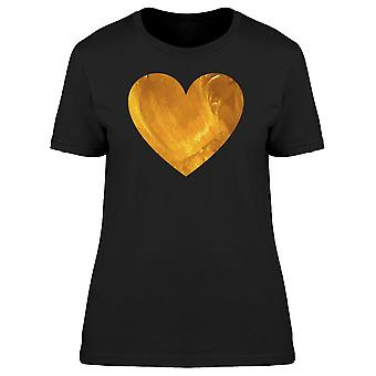 Heart In Gold Painting Tee Women's -Image by Shutterstock