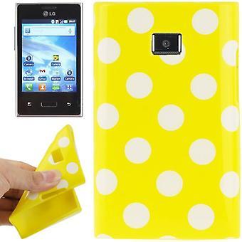 Protection points TPU cas d'affaire pour mobile LG Optimus L3 / E400