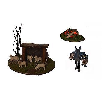 Nativity accessories stable Nativity set sheep shelter ass bonfire