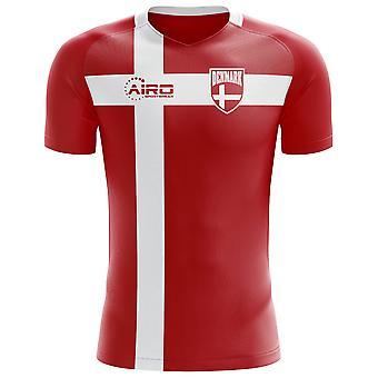 2018-2019 الدانمرك العلم مفهوم كرة القدم قميص