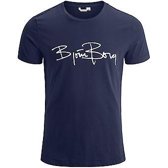 Björn Borg allekirjoitus Logo t-paita, Navy