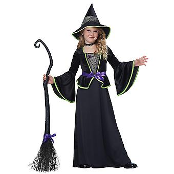 Classic Witch Wicked Wizard Sorceress Halloween Story Book Week Girls Costume