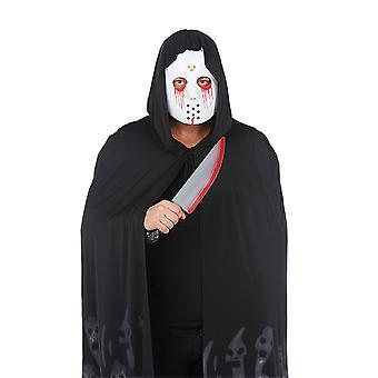 Bloody mask & knife set 2 PCs. Serial killer costume for Halloween